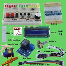 Small Basic Starter Kit for Arudino Uno R3 Mega2560 1602 LCD Servo Relay LED.