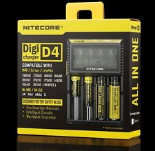 CARGADOR NITECORE D4 BATERIA Display LCD Charger 18650 16340 26650 Battery