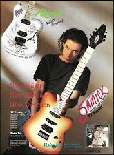 Blues Saraceno 1995 Hairpick Samick TV Twenty Guitar ad 8 x 11 advertisement