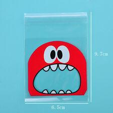 Cartoon Plastic Pack Candy Cookie Packaging Bags Self Adhesive Sample Gift Bags