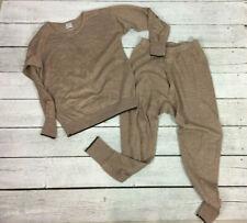 Vtg Space Man sz M/40 Non Shrink Wool England Long John Base Shirt Pants Sweater