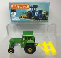Lesney Matchbox Superfast 75 Series - Ford Tractor and Harrow 46 Mint in Box
