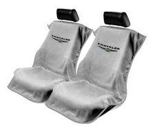 Seat Armour 2 Piece Front Car Seat Covers For Chrysler - Grey Terry Cloth