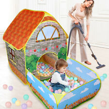 Kids Pop-up Play Tent Ball Pit Foldable Playhouse Toddlers Children In/Outdoor