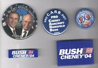 5 old George W. BUSH 2004 Campaign  pins