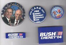 5 old George W. BUSH 2004 Campaign  pins