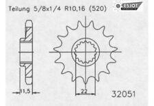 Esjot Motor Ritzel 13 Zähne passend für KTM LC4 ab Bj.90-, Husqvarna 701 ab 16-