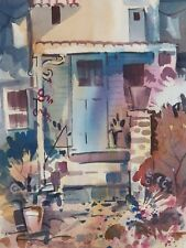 """FRONT PORCH"" original watercolor by American artist Micheal Jones"