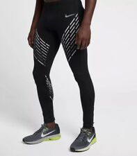 Nike Power Men's Graphic Running Tights Sz L Black Gym Training 891691-011