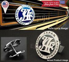 Japan Automobile Federation JAF Black Emblem Badge For Mitsubishi Subaru Grille