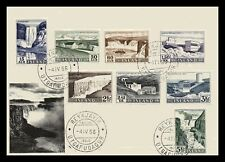 Iceland 1956 FDC, Power Stations and Waterfalls. Lot # 1.