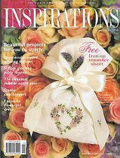 INSPIRATIONS MAGAZINE issue 19 1998 vgc patterns attached BEAUTIFUL EMBROIDERY