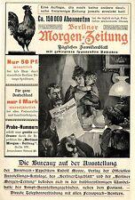 BERLINER MORGEN-ZEITUNG * FAMILIENBLATT * Historische Reklame von 1896