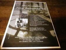 JOHN Mc LAUGHLIN - Publicité de magazine / Advert !!! TIME REMEMBERED !!!
