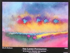 Mark Dickson Art Show Gallery Poster unsigned 1992 Listen Foundation MAKE OFFER!