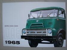 DAF  Serie 2003 - 2300 trucks  brochure/Prospekt   1965.