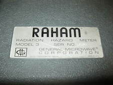 General Microwave Raham 481B Radiation Hazard Meter With a 83A Probe