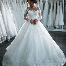 Scoop Neck White/Ivory Wedding Dress Bridal Bride Gown Custom Size 4-18+
