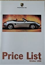 New listing Porsche, 1996, 1997 Model Year, Range; Specification and Price list