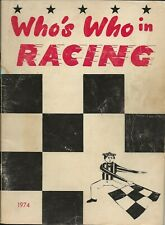 OLD VINTAGE 1974 WHO'S WHO IN RACING PHOTO MAGAZINE ARCA USAC NASCAR