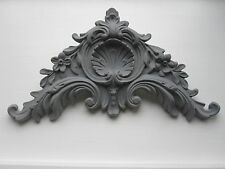 BEAUTIFULL ORNATE FRENCH COUNTRY BED /MIRROR FURNITURE/PEDIMENT