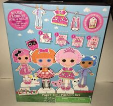 LALALOOPSY Paper Doll Fashion Set Fashions for 4 Dolls Crayons-Stickers-Paint