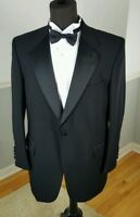 Stafford Black Wool Formal Men's Black Tuxedo Jacket Black Tie Jacket 42R