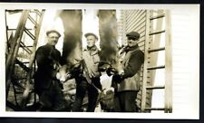 MAINE, STRONG, ?, REAL PHOTO, THREE MEN & 2 DEER, WOB, VGC,   (254