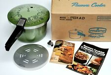 Vtg MCM Presto 4 Qt Pressure Cooker Model 01/PCC4AD Avocado Green Rare NIB