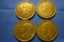 (A315) 4 pièces de 50 francs Guiraud ,1951 et 51 B, 1953 et 53 B