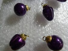 Hand Crafted Miniature Ornaments Deep Purple Set Of 7 Made In India