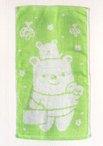 Bamboo Home USA Bamboo Rayon Ultra Soft  2 Bears  Towel Green Pink Yellow