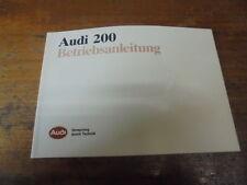 Prospekt Sales Brochure Audi 200 Betriebsanleitung quattro Benzinmotoren