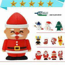 1-64GB USB Flash Memory stick Drive USB 2.0 Cartoon Snowman Christmas Pendrive-