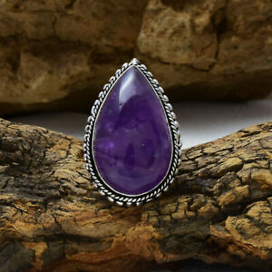 Beautiful African Amethyst Gemstone 925 Sterling Silver Handmade Ring All Size