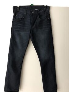 H&M Boys 13-14 Jeans Dark With Studs On Back Pockets