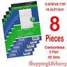 8 x Sales Order Books Receipt Record List Invoice 50 Sets 2 Parts Carbonless