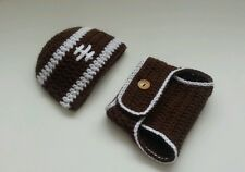 NEW Newborn Baby Boy Football Hat and Diaper Cover Crochet Infant Photo Prop