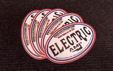 ELECTRIC AMP USA OFFICIAL TRADEMARK LOGO STICKER X5