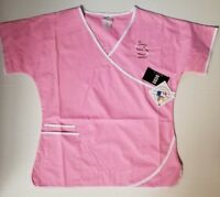 St Louis Cardinals Scrub Dudz Breast Cancer Pink Top MLB Licensed CHOOSE SZ NWT