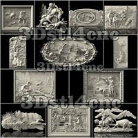 12 3D STL Hunting Models Set for CNC Router Carving Machine Artcam aspire Cut3D