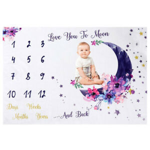 Baby Milestone Photo Blanket Photography Props Growth Memorial Blanket Shoots *s