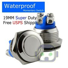 19mm Water Proof Starter Switch Boat Horn Momentary Push Button Stainless Steel