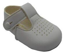 Bebé Niñas Niños Baypod T-Bar Pram Zapatos en Blanco