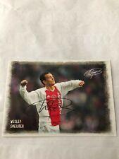 Spelerskaart Topspieler Handsigniert Ajax Wesley Sneijder