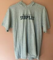 Tommy Hilfiger Women Gray Hooded S/S Spell Out Pullover Shirt Top Sz S P
