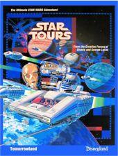 "8.5/"" x 11/""  Poster Star Tours Disneyland StarWars Weekend Chewbacca"