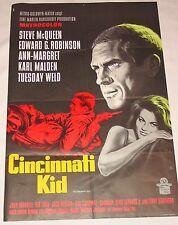 CINCINNATI KID - A1 PLAKAT / STEVE McQUEEN / GRAPHIK : KLAUS DILL / MGM