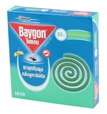 BAYGON MOSQUITOES REPELLENT - 10 COILS - EUCALYPTUS FRAGRANCE  - THAI BRAND