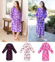 Womens Luxury Soft Plush Long/Short Hoodie Bathrobe Spa Bath Robe Pajama